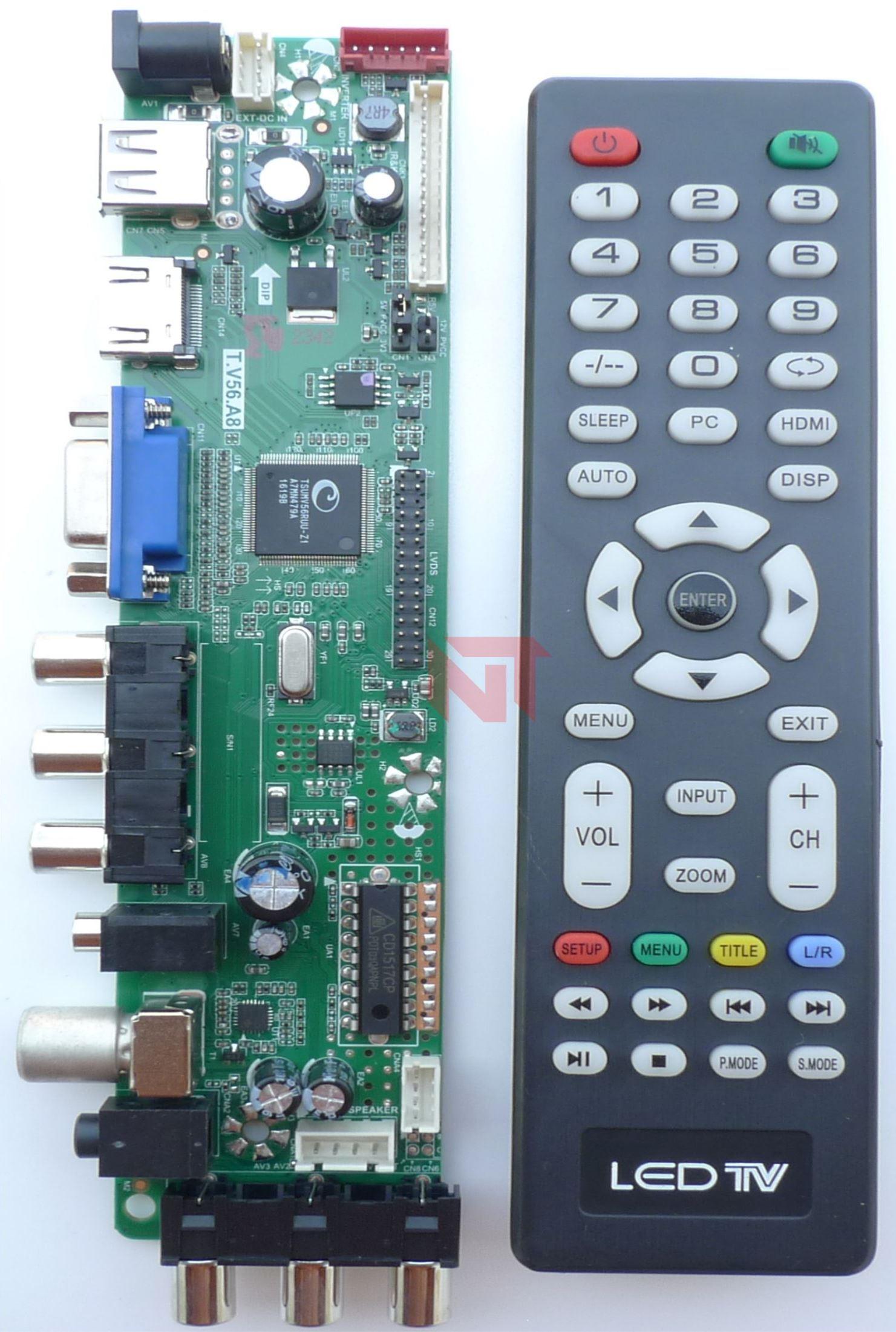 universal t v56 a8 ld board remote led tv narayanitech com rh narayanitech com